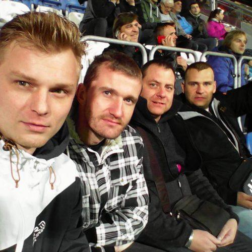Tým A-GIGA na fotbalovém zápase Česko-San Marino v Plzni